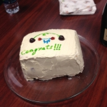 Andrew's PhD Cake